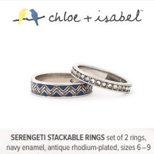 🆕 Serengeti Stackable Rings 2️⃣Set c+i R153BLAR